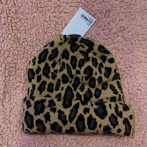 Cheetah print beanie